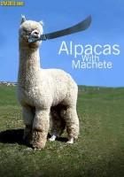 alpacas with machete