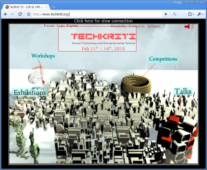 Techkriti Main Page